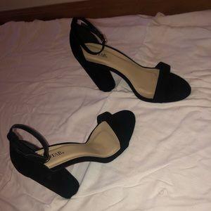 JustFab Shoes - velvet black heels